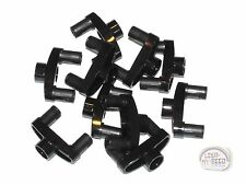 LEGO Technic - 10 x Pin Connector - 3L - w/ 2 Pins & Center Hole - Black - New