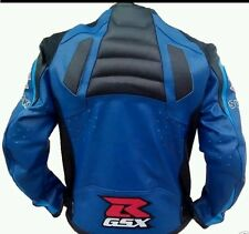 SUZUKI GSX MOTORBIKE/MOTORCYCLE LEATHER JACKET (2015 MODEL) FULL PROTECTION.