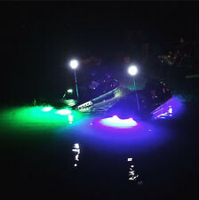 "GREEN LED BOAT PLUG LIGHT GARBOARD BRASS DRAIN 1/2"" NPT MARINE UNDERWATER FISH"