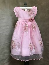 PINK CHIFFON PARTY DRESS Embroidered CECI KIDS Girls 2-3 USA Flower Girl Formal