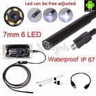 1-5m 5.5/7mm Android USB Endoscope Waterproof Borescope Inspection Camera 6LED K