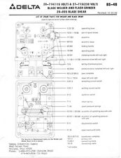 Delta Rockwell BS-4B blade Welder Instructions