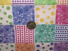 Fabric Baby Blender Blocks Purple Pink on White Cotton By The 1/4 yard BIN