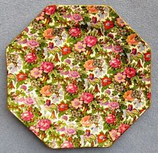 Crown Ducal Ivory Chintz Octagonal Lunch Plate