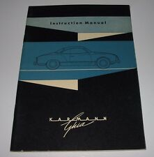 Betriebsanleitung VW Karmann Ghia Instruction Manual Stand Januar 1963!