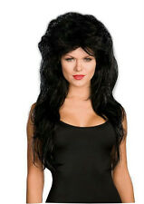 Dreamgirl Women's Long Black Layered 80's Rocker Wig