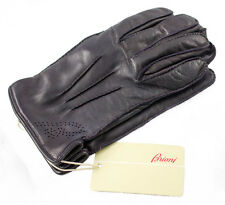Men's BRIONI Italy Purple Nappa Leather Cashmere Lined Gloves S M 8.5 $695 NWT!