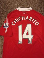 MANCHESTER UNITED 2010/11 HOME SHIRT ADULTS(M) 14 CHICHARITO