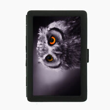 Owl D2 Black Cigarette Case / Metal Wallet  Flying Aviary Animal Feathers Barn