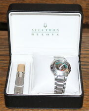 RARE SWISS MADE BULOVA ACCUTRON MODEL SPACEVIEW 21 WITH CHARGER AND BOX
