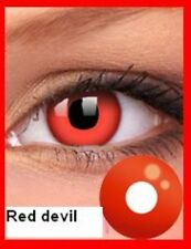 Crazy Halloween Contact Lenses Kontaktlinsen lentilles Cosplay Red Devil Costume