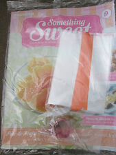 DEAGOSTINI SOMETHING SWEET MAGAZINE ISSUE 9 WITH HEART CUTTER GIFT BAGS & RIBBON