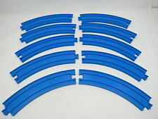 "Thomas & Friends Tomy Blue 6"" Curve Track 10 pc Lot Great Gift B20 1.12"