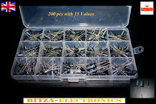 15 Values 200Pcs Electrolytic Capacitor Assortment Box Kit 0.1-220uF UK Seller