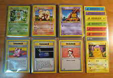 NM COMPLETE 1st edition RARE/UNCOMMON/COMMON Pokemon BASE 86-Card SHADOWLESS Set