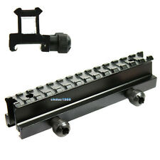 """Tactical See-Thru Flat Top 1"""" 1 inch Rise Picatinny Rail for Rifle Scope Mount"""