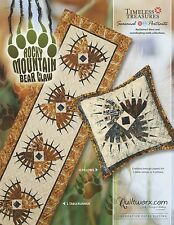 ROCKY MOUNTAIN BEAR CLAW TABLE RUNNER PATTERN, Paper Piecing From Quiltworx NEW