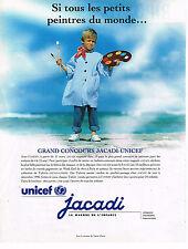 PUBLICITE ADVERTISING 035  1996  JACADI & UNICEF  concours vetements enfants