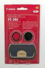 Set Filtri (Protezione + ND8 + Custodia) Canon FS-28U Originale 28mm