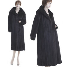 ON SALE! Mint! Forever Fashionable Black Mahogany Mink Fur Full-Length Coat