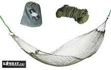 Travel Camping Garden Tree Army Combat Military Mini Net Hammock + Stuff Pouch