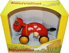 Vintage Rare Kouvalias Wooden Pull Toy Kelly The Little Cow No 370 + GIFT!