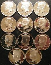 1968 ~ 1979 PROOF Kennedy Half Dollars 11 Coins from US Proof Sets 3-40% Silver