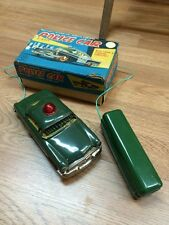 Vintage Tin Battery Operated Linemar You 50's Police Car Box Works