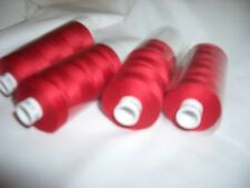 4 REELS RED  MOON 1000 yds  SEWING MACHINE OVERLOCKER THREAD FREE DELIVERY