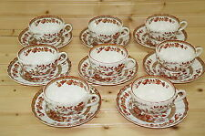 "Spode Indian Tree 2/959 Set of (8) Cups, 2 1/8"" & (8) Saucers, 5 3/4"""