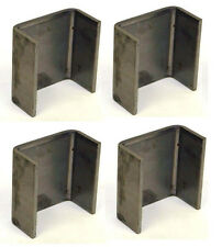 FOUR - 2 x 4 Steel Weld On Trailer Truck Stake Pocket Board Holder 7 Gauge HD