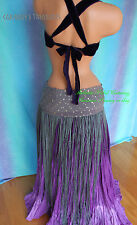 Silver Kuchi Assuit Fringe Scarf Gypsy Tribal Fusion Belly Dance