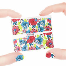 Nail Art Manicure Water Transfer Decal Stickers Flowers YB908