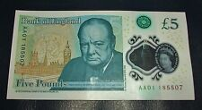 ��New Bank of England : £5.00 note : AA01��185507