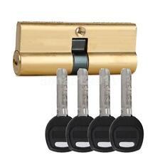 75MM 37.5x2 Brass Key Cylinder Door Lock Barrel Anti Bump/Drill/Pick +7 keys
