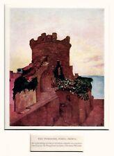 Ischia: Forio: il Torrione. Golfo di Napoli. Stampa Antica + Passepartout. 1904