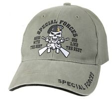 US Army SPECIAL FORCES Ball Cap Olive OD Green Beret Ranger Airborne Ballcap Hat