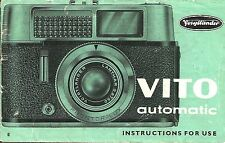 Voigtlander Vito Automatic Original Instruction Book