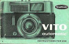 Voigtlander Vito Automatic Original Instruction Book
