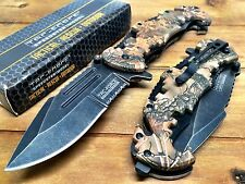 Tac-Force Special Forces Speedster tac pocket knife with seat belt cutter - CAMO