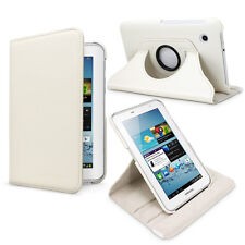 Fosmon Revolving Leather Protector Case for Samsung Galaxy Tab 2 7.0 (White)