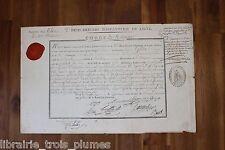 ✒ P.S. Général de SCHAUENBURG Congé 1799 François GELIN né à La Chapelle MAYENNE