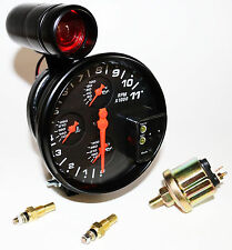 "5"" 4  in 1  Tach Combination, Oil & coolant Temp F, Oil Psi & Shift Light"