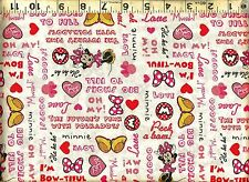 Springs ~ Disney ~ MINNIE MOUSE Pink Polka Dots ~ 100% Cotton Quilt Fabric BTY