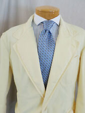 POLO RALPH LAUREN butter yellow cotton khaki unlined blazer jacket MEDIUM