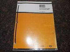 CASE W14 ARTICULATED LOADER PARTS CATALOG BOOK MANUAL PRIOR TO S/N 9119672