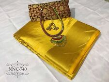 Indian Ethnic Saree Bollywood New Designer Partywear Sari & Two Unstich Blouse