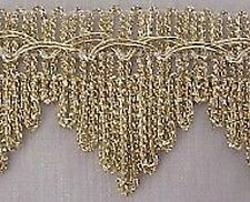 5 Yards. Metallic Ribbon Trim. Light Gold