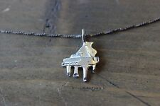 """Vintage 16"""" Sterling Silver Grand Piano Necklace"""