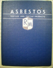 RAYBESTOS MANHATTAN ASBESTOS Textile Products Catalog Roving Cord Rope Cloth